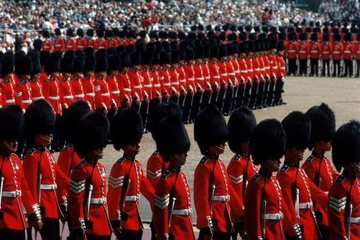 Stock Photo: 4285-16937 Trooping the Colors at Queens Birthday Celebration, London, United Kingdom