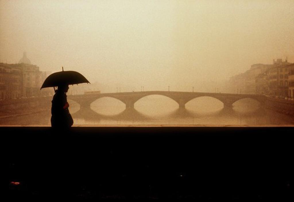 Stock Photo: 4285-17353 Ponte Alla Carraia on Amo river in Florence, Toscana, Italy
