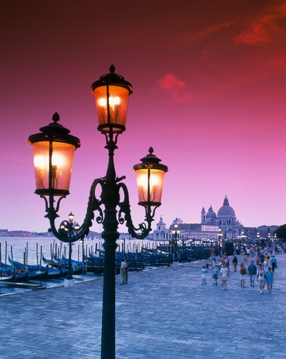 Stock Photo: 4285-17371 Gondolas and the Santa Maria Della Salute Church Venice, Veneto, Italy