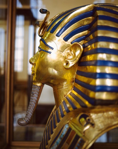 Stock Photo: 4285-17491 Tutankhamun Death Mask in the Cairo Museum, Cairo, Egypt