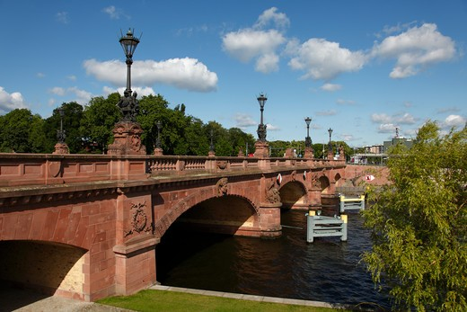 Stock Photo: 4285-18181 Germany, Berlin, Moltke Brcke, Moltkebrcke Bridge, River Spree