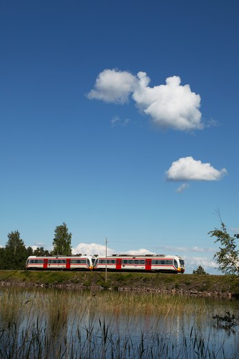 Finland, Region of Southern Savonia, Savonlinna, Punkaharju Nature Reserve, Saimaa Lake District, Local Train : Stock Photo