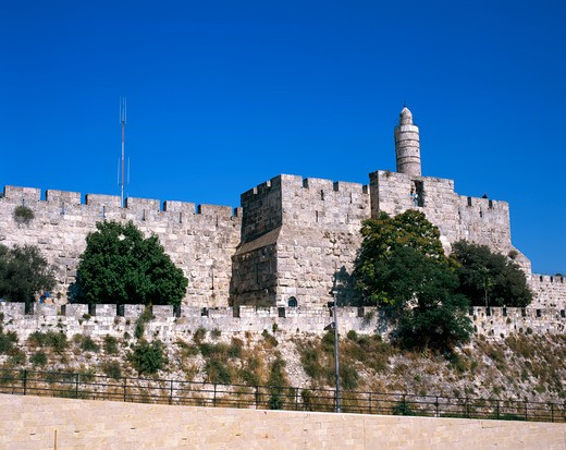 Stock Photo: 4285-19149 Israel, Jerusalem, Old City, David's Tower, The Citadel