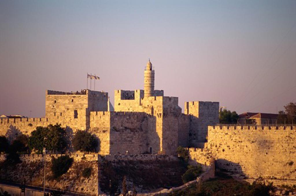 Israel, Jerusalem, Old City Wall, David's Tower, The Citadel : Stock Photo