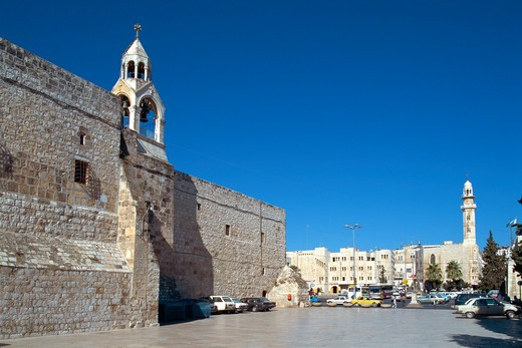 Stock Photo: 4285-19232 Israel, Bethlehem Village, Manger Square