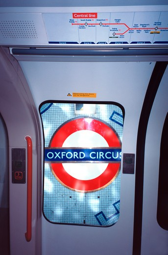 United Kingdom, London, Oxford Circus Station : Stock Photo