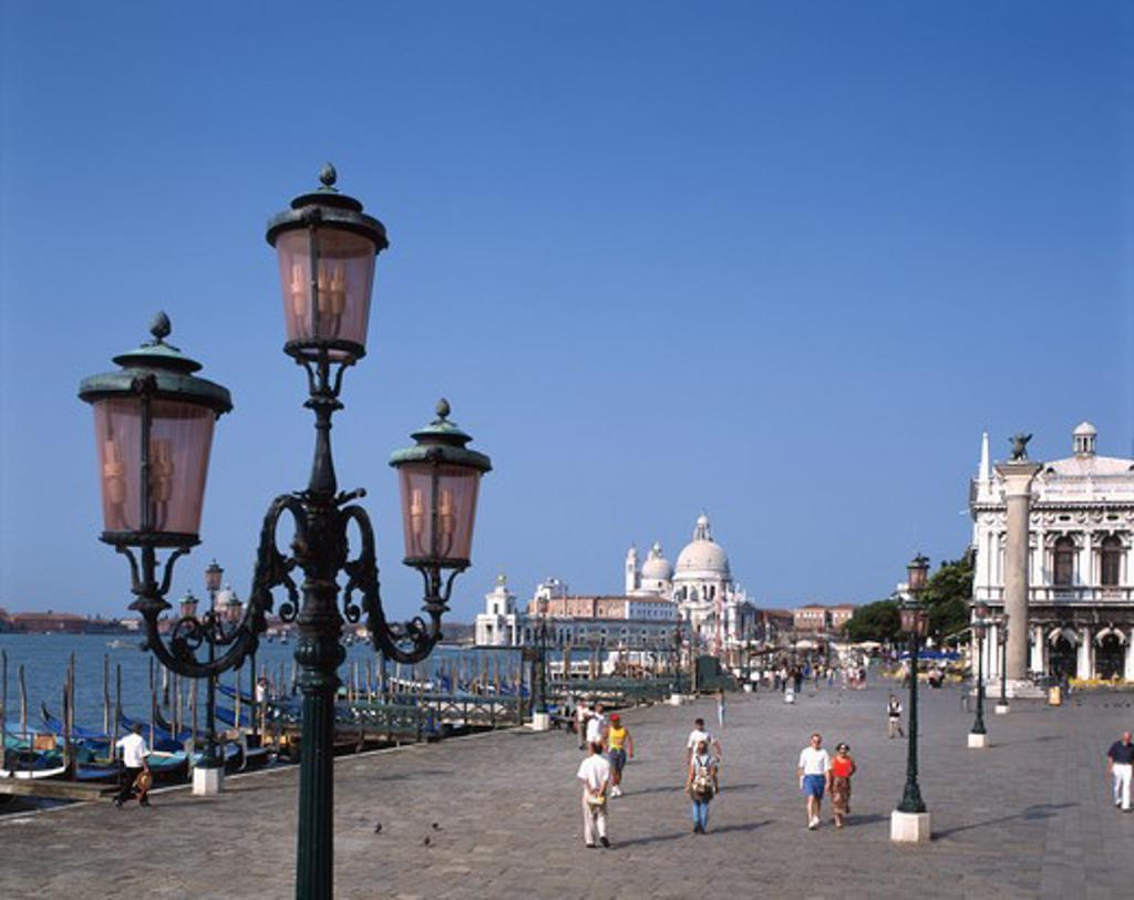 Italy, Venice, Della Zecca Palace, Della Salute Church : Stock Photo