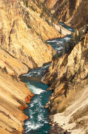 Stock Photo: 4285-1966 The Yellowstone River in the Grand Canyon of the Yellowstone, Yellowstone National Park, Wyoming