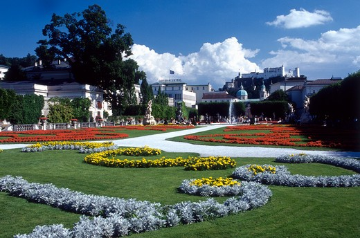 Stock Photo: 4285-19736 Austria, Salzburg Castle, Mirabell Gardens