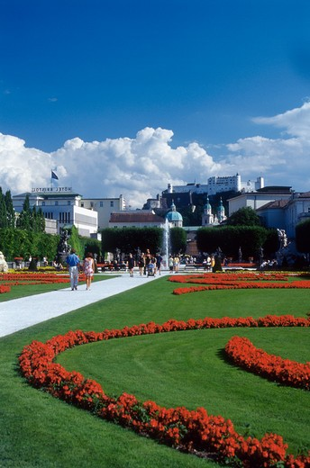 Stock Photo: 4285-19737 Austria, Salzburg Castle, Mirabell Gardens