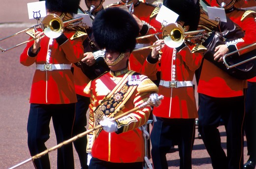 United Kingdom, London, Buckingham Palace, Changing Guards : Stock Photo