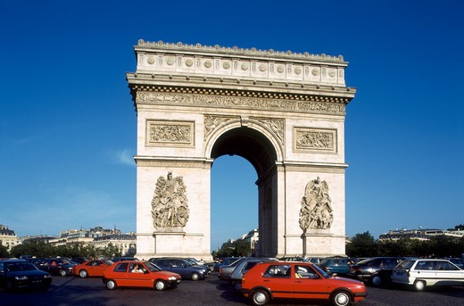 Stock Photo: 4285-20116 France, Paris, Arc de Triomphe