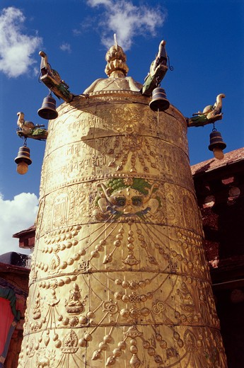 Stock Photo: 4285-20710 Tibet, Jokhang Temple Bell