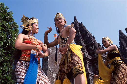 Stock Photo: 4285-20867 Java, Prambanan, Ramayana Dancing