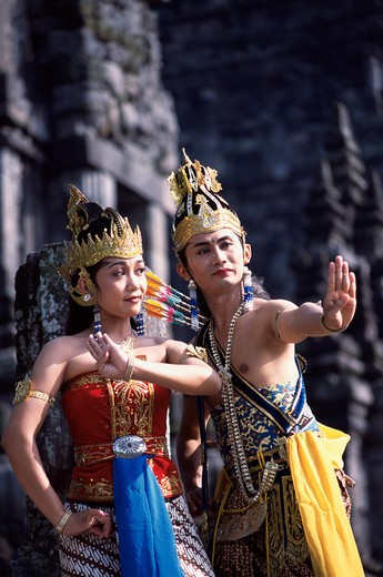 Java, Prambanan, Ramayana Dancing : Stock Photo