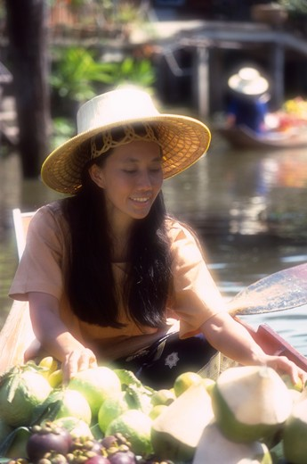 Stock Photo: 4285-21716 Thailand, Bangkok, Floating Market
