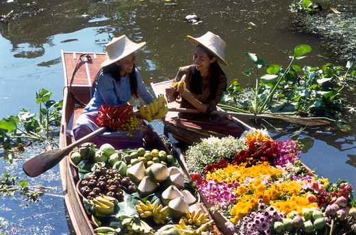 Stock Photo: 4285-21719 Thailand, Bangkok, Floating Market