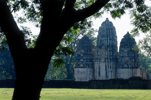 Stock Photo: 4285-21743 Thailand, Sukhothai, Ancient City, Wat Sri Sawai