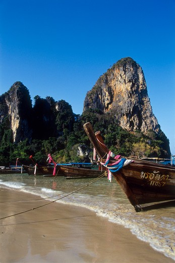 Stock Photo: 4285-21773 Thailand, Krabi Province, Railay Bay and Beach