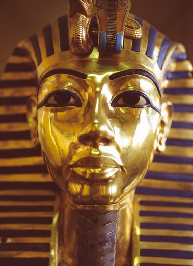 Stock Photo: 4285-22000 Egypt, Cairo Museum, Tutankhamun Death Mask