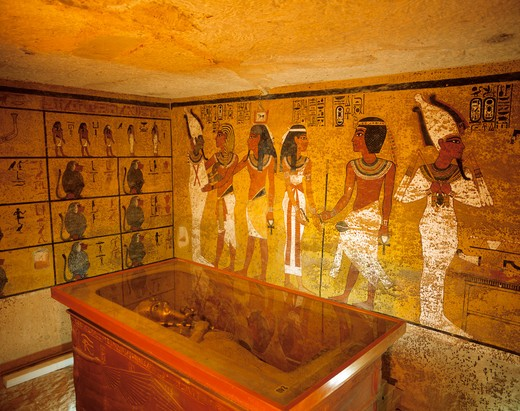 Stock Photo: 4285-22002 Egypt, Luxor, West Bank, Tutankhamun Tomb