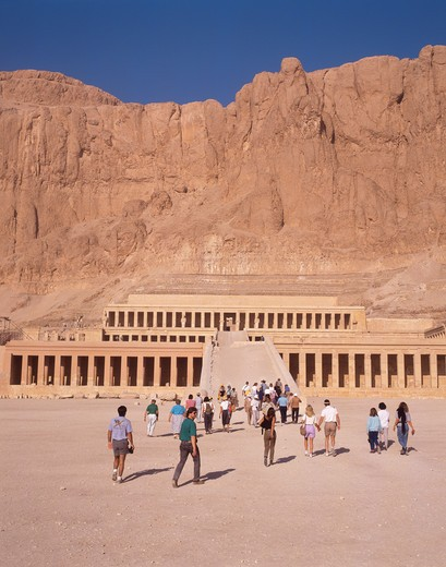 Egypt, Luxor, West Bank, Dier el Bahari, Temple of Hatshepsut : Stock Photo