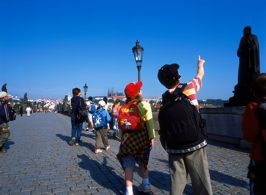 Old Town, Charles Street Bridge, Prague, Czech Republic : Stock Photo