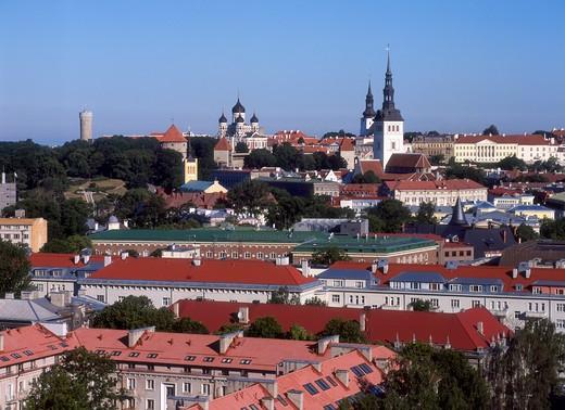 Stock Photo: 4285-22259 Skyline, Old Town, Tallinn, Estonia
