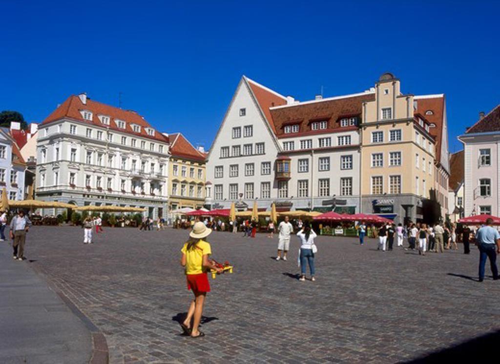 Town Hall Square, Old Town, Tallinn, Estonia : Stock Photo