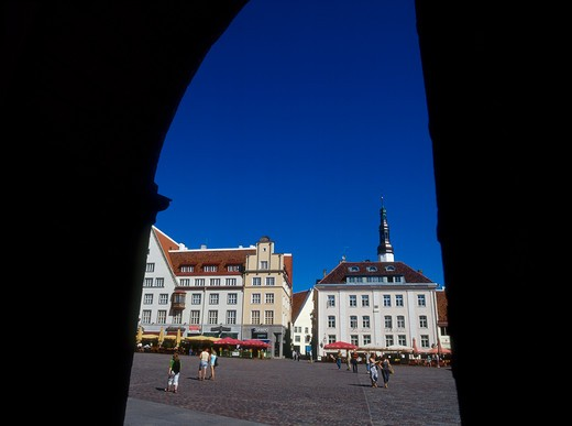 Stock Photo: 4285-22273 Town Hall Square, Old Town, Tallinn, Estonia