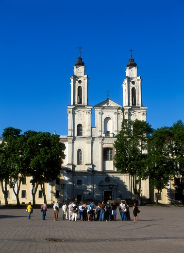 Stock Photo: 4285-22307 St Francis Church, Jesuit Monastery, Kaunas, Lithuania