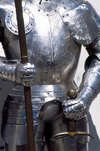 Stock Photo: 4285-22368 Medieval Armour, Cesky Krumlov, Czech Republic