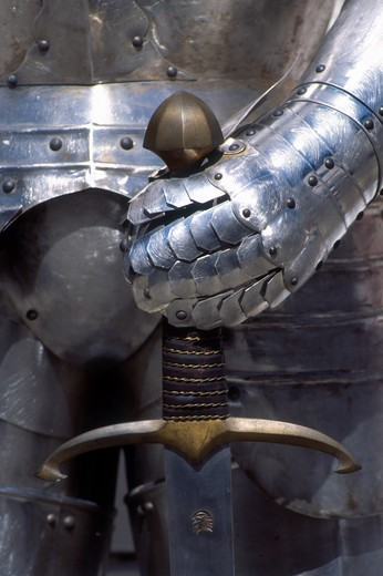 Medieval Armour, Cesky Krumlov, Czech Republic : Stock Photo
