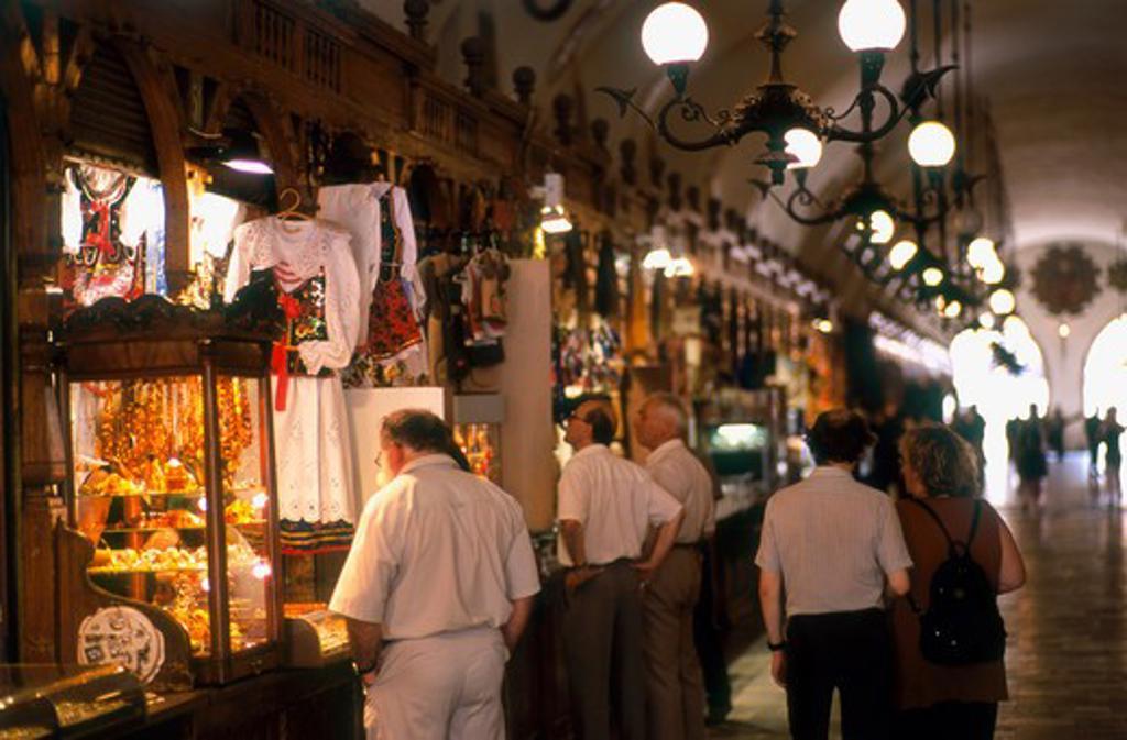 Stock Photo: 4285-22403 Shopping Arcade, Sukiennice, Cloth Hall, Old Town, Market Square, Krakow, Poland