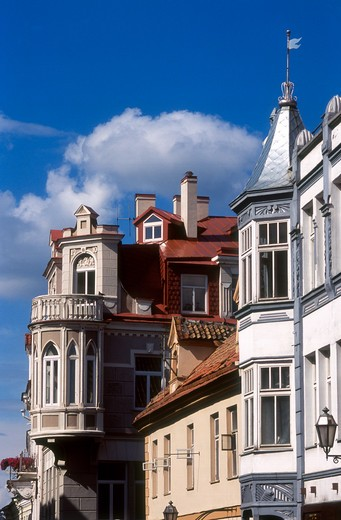Stock Photo: 4285-22472 Pilies Street, Historic Houses, Old Town, Vilnius, Lithuania