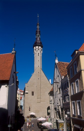 Stock Photo: 4285-22523 Old Town Hall, Raekoda, Town Hall Square, Old Town, Tallinn, Estonia