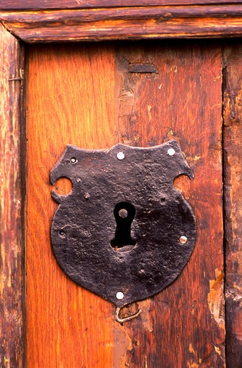 Stock Photo: 4285-22548 Iron Door Lock, Old Town, Tallinn, Estonia