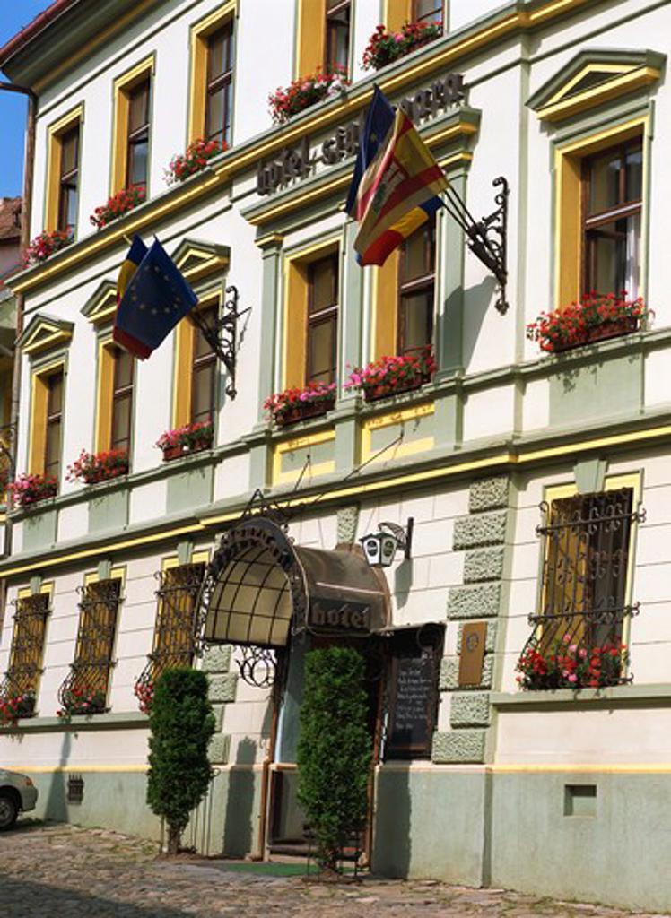 Stock Photo: 4285-22783 Romania, Transylvania, Sighisoara, Medieval Citadel, Sighisoara Hotel