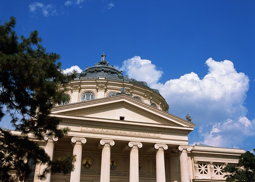 Romania, Bucharest, Piata George Enescu, Romanian Athenaeum (Ateneul Roman) : Stock Photo