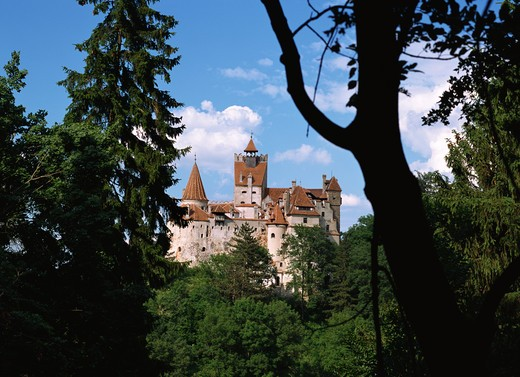 Romania,Transylvania, Brasov County, Bran, Bran Castle (Dracula?s Castle) : Stock Photo