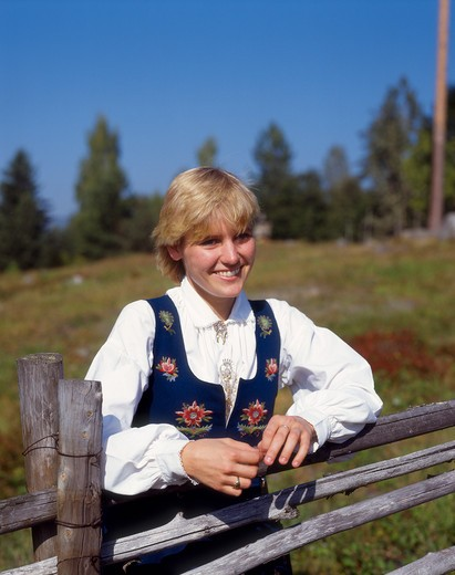 Stock Photo: 4285-23369 Norway  Maihaugen  Traditional Costumes