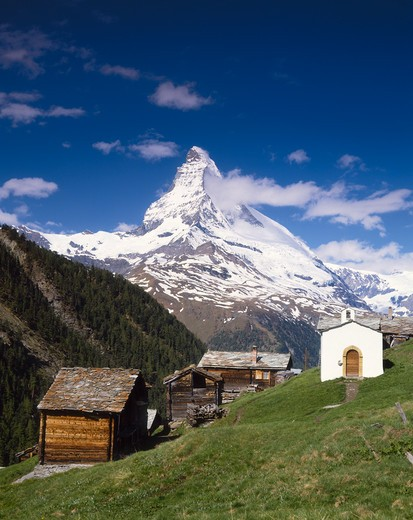 Stock Photo: 4285-23378 Switzerland  Valais  Switzerland  The Matterhorn