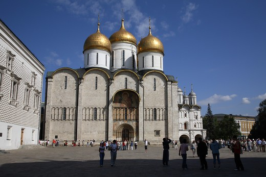 Stock Photo: 4285-23527 Russia, Moscow, The Kremlin, The Assumption Cathedral (Cathedral of the Dormition)