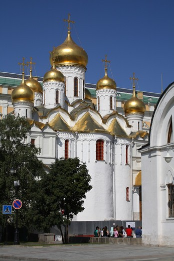 Stock Photo: 4285-23530 Russia, Moscow, The Kremlin, The Annunciation Cathedral
