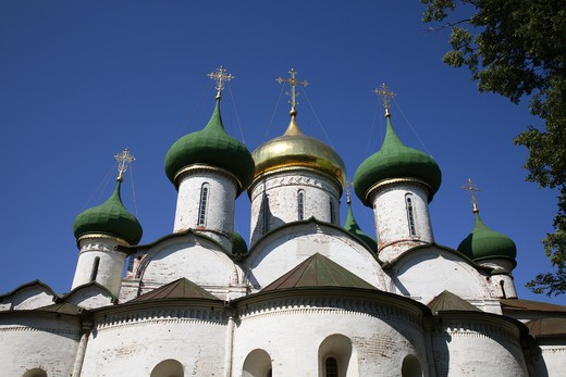 Stock Photo: 4285-23795 Russia, Suzdal, St Euthymius Monastry of the Saviour, Transfiguration Cathedral