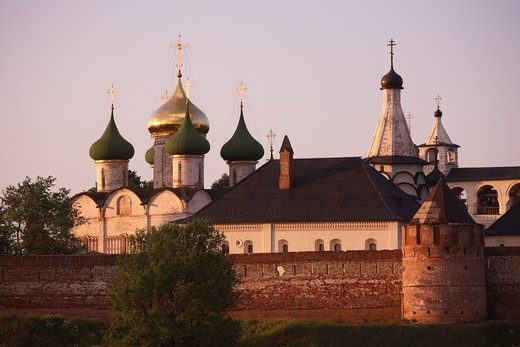 Russia, Suzdal, St Euthymius Monastry of the Saviour, Transfiguration Cathedral : Stock Photo