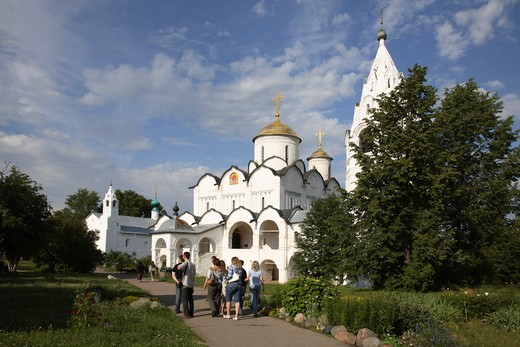 Russia, Suzdal, Pokrovsky Convent, Cathedral of the Intersession of the Blessed Virgin : Stock Photo