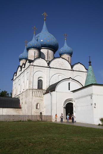 Stock Photo: 4285-23817 Russia, Suzdal, The Kremlin, Cathedral of the Nativity of the Virgin (Rozhdestvensky Cathedral)