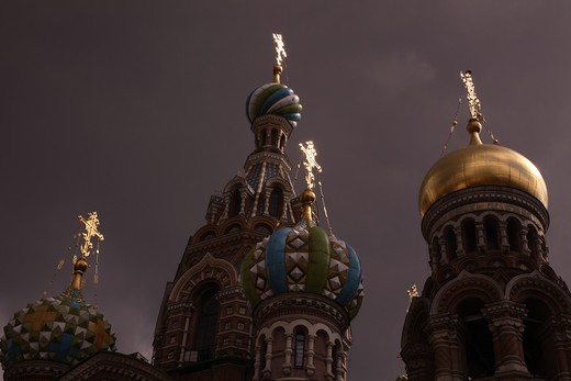 Stock Photo: 4285-23943 Russia, St Petersburg, Church of the Resurrection (Church on Spilled Blood)