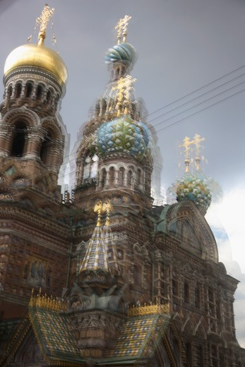 Stock Photo: 4285-23962 Russia, St Petersburg, Church of the Resurrection (Church on Spilled Blood)